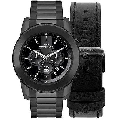 Relógio Technos Smartwatch Connect Preto 3+ Black M1AB/4P