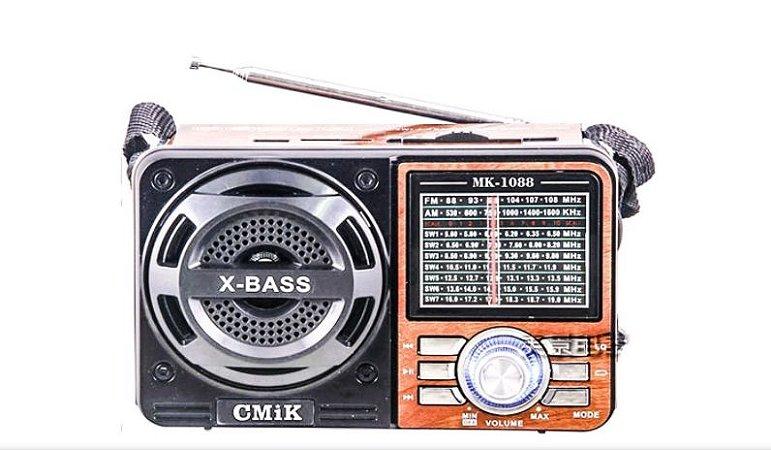 Radio 9 Faixas C/LanternaPilha-  Fsound