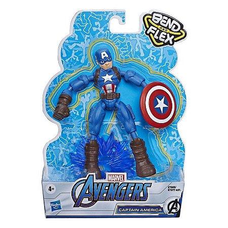 Boneco Avengers Fig.Bend and Flex Capitão America - Hasbro