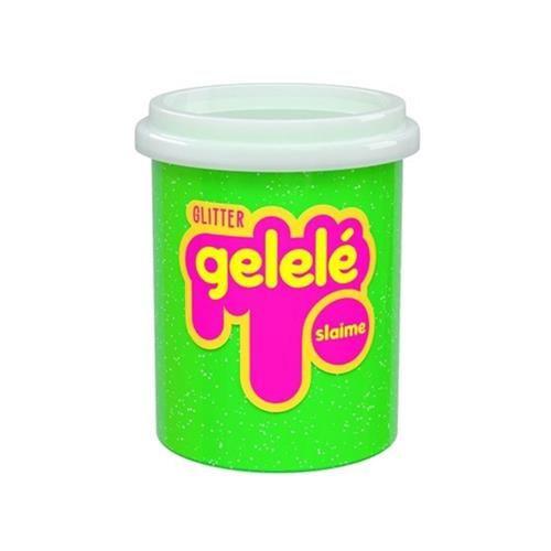 Gelelé Slime Glitter Pote 152G Verde - Doce Brinquedo