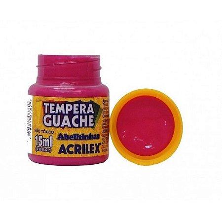 Tinta Tempera Guache Acrilex 15 ml - Rosa