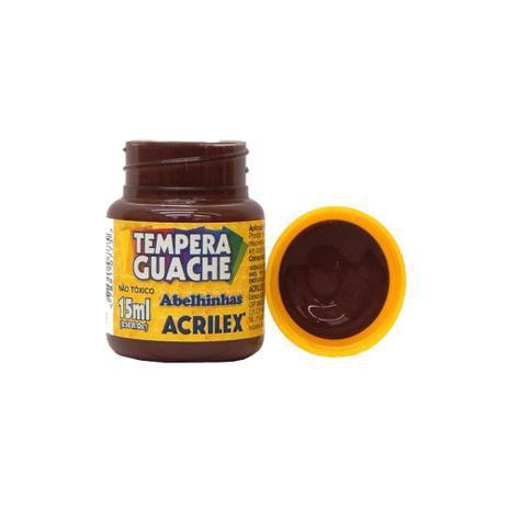Tinta Tempera Guache Acrilex 15 ml - Marrom