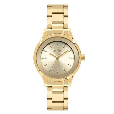 Relógio Condor Feminino Dourado + Semijoia - CO2035MWR/K4D