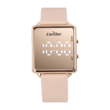 Relógio Condor Feminino Digital LED Rosa - COMD1202AH/5J