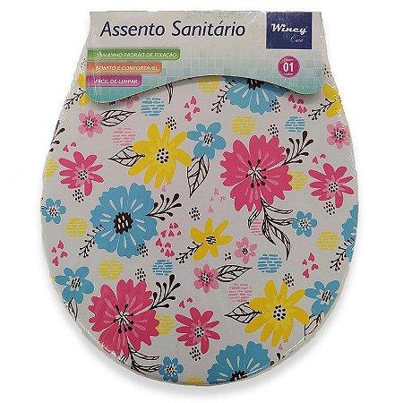 Assento Sanitário Almofadado Decorado 35cm x 41cm Sortidas - Wincy