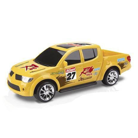 Brinquedo Carrinho Pick-Up RX - Rally L200 Roma Brinquedos cor: Amarelo