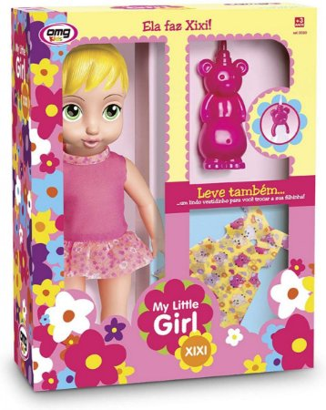 Boneca My Little Girl Faz Xixi - Omg Kids