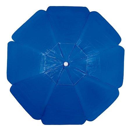 Guarda-Sol Alumínio Bagum PVC 2,00m Azul - Mor