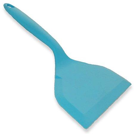 Espátula de Silicone Colors 25x12cm Azul Ciano - Wellmix
