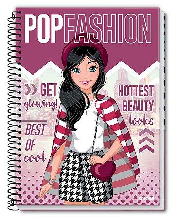 Caderno Linha Pop Fashion Chinesa 1 Materia 96 Folhas -  Credeal