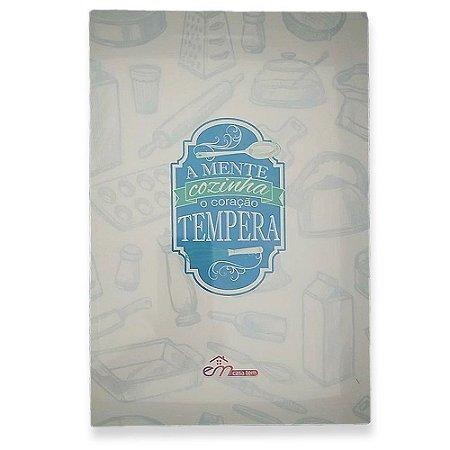 Tábua de Vidro Temperado Letras Azul 30x20 - Em Casa Tem
