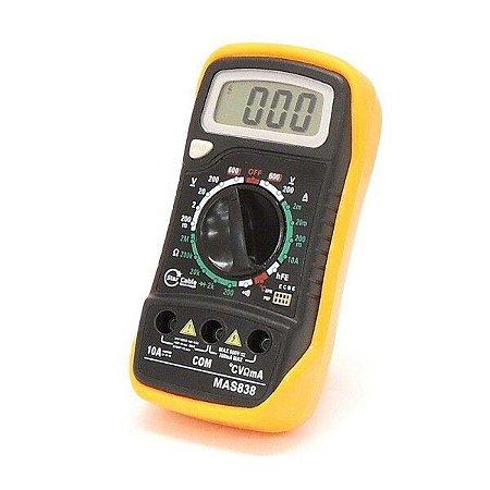 Multímetro Digital com Sensor de Temperatura e Beep MAS838 - Star Cable