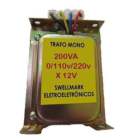 Transformador 110V/220V X 12VAC 150wts