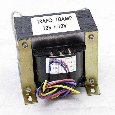 Transformador Trafo 0v-110v-0V - 110v x 12vac-0v-12vac10A