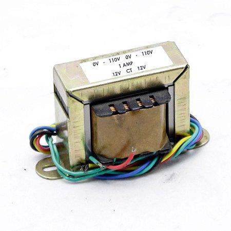 Transformador Trafo 0v -110v-220v x 12vac-0v-12vac  1A