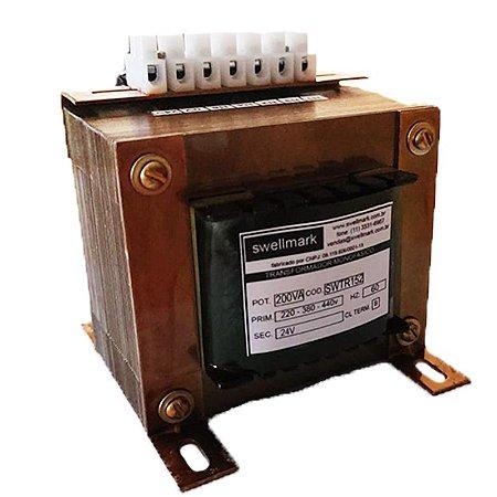 Transformador Monofásico de Comando 220V/380V/440V X 24V 300VA