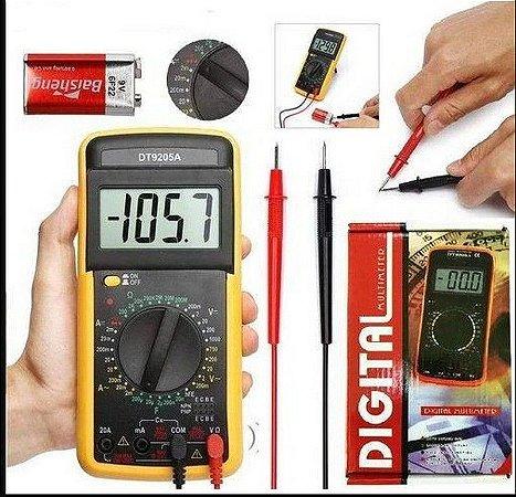 Multimetro Digiltal DT-9205A com Capacimetro e Aviso Sonoro