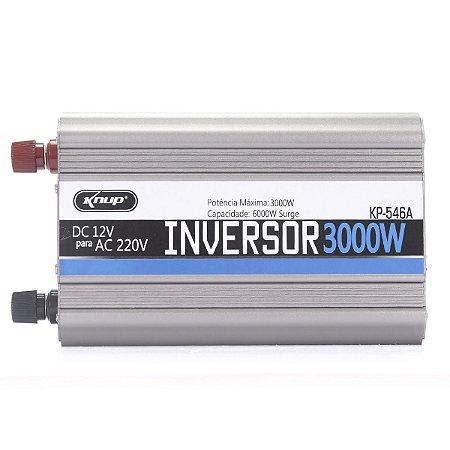 Inversor Conversor Veicular C/ potência 3000W 12V P/ 220V  KP-546A - KNUP