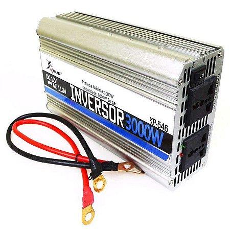 Inversor Conversor Veicular C/ potência 3000W 12V P/ 110V  KP-546 KNUP