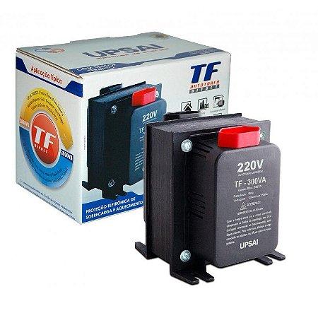 Auto Transformador TF 300VA Bivolt 110V/220V ou 220V/110V C/ Sensor Térmico - UPSAI