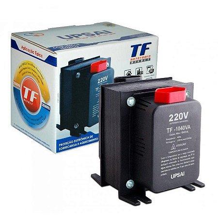 Auto Transformador TF 1040VA Bivolt 110V/220V ou 220V/110V C/ sensor térmico - UPSAI