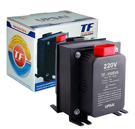 Auto Transformador TF 1500VA Bivolt 110V/220V ou 220V/110V C/ Sensor Térmico - UPSAI