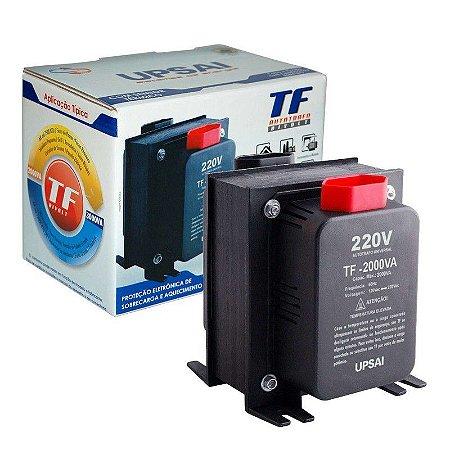 Auto Transformador TF 2000VA Bivolt 110V/220V ou 220V/110V C/ Sensor Térmico - UPSAI