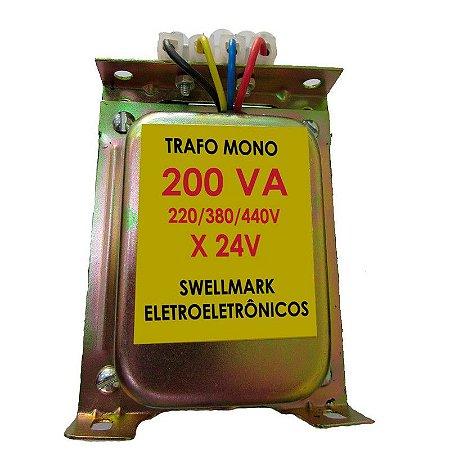 Transformador de Comando 220/380/440V x 24V 200VA = 150wts