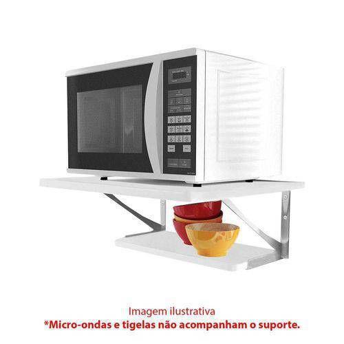 Kit Prateleiras c/ Suporte p/ Microondas em Aço Multivisão