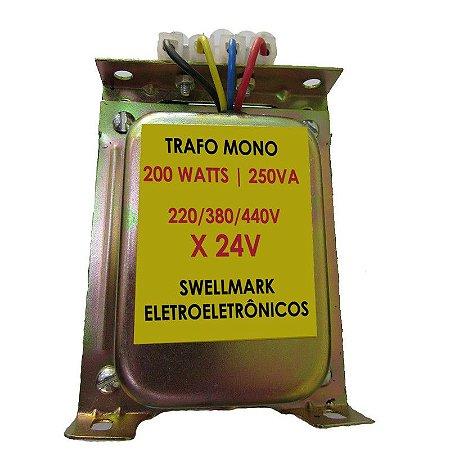Transformador de Comando 220/380/440VA x 24V  250VA/200W