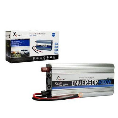 Inversor Conversor Veicular C/ potencia 4000W 12V P/ 110V  KP-546A - KNUP