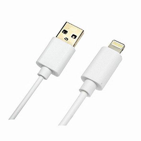 Cabo Apple USB - Iphone 5/6/7 2Metros Branco Comp