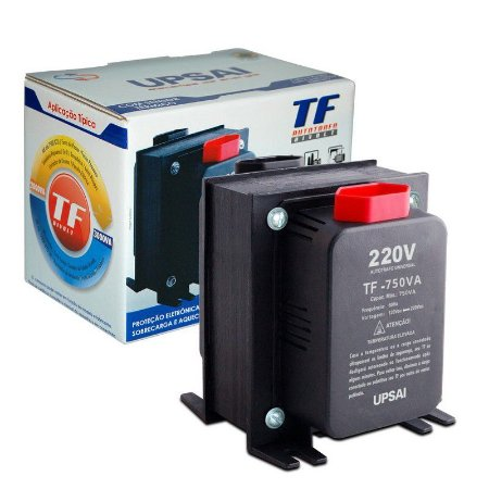 Auto Transformador TF 750VA Bivolt 110V/220V ou 220V/110V C/ Sensor Térmico - UPSAI