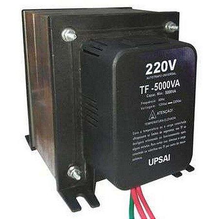Auto Transformador TF 5000VA Bivolt 110V/220V ou 220V/110V C/ Sensor Térmico - UPSAI