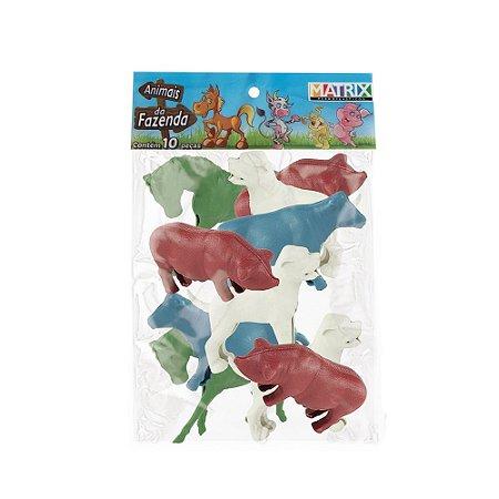 Animais da Fazenda - 10 peças