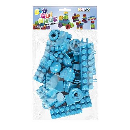 Bloquinhos para montar Educativo - 28 peças cor única