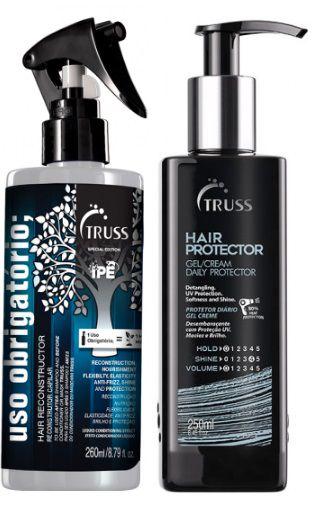 Kit Combo Truss Hair Protector E Uso Obrigatório Reconstrutor