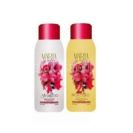 Mini Kit Maria Escandalosa (Shampoo+Máscara Redutora de Volume) - 600ml