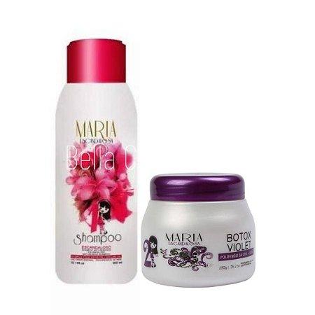 Mini Kit Maria Escandalosa Botox Matizador (Shampoo+Botox Violet) - 600ml