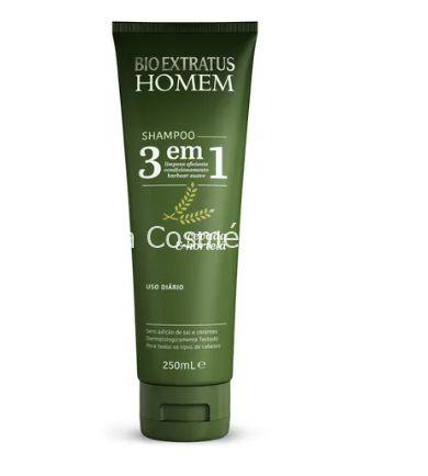 Shampoo 3 Em 1 Bio Extratus - 250mL