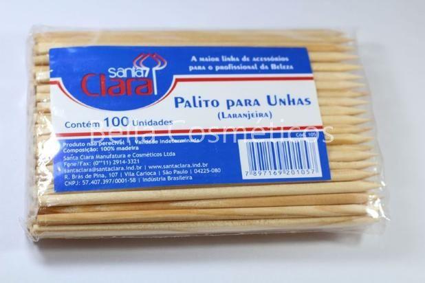Palito Para Unhas Laranjeira Descartável Santa Clara (100 unidades) - cód. 105