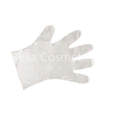 Luva Plástica Descartável Transparente Multiuso Santa Clara - com 100 unidades - cód. 473