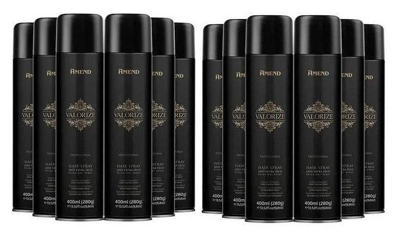 Combo cx com 12un - Hair Spray Valorize ultra forte Amend - 400ml cada
