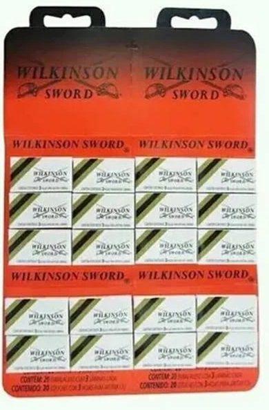 Lâmina Wilkinson - cartela com 60 lâminas