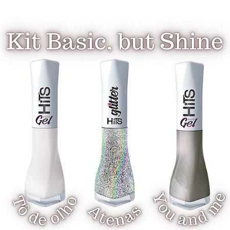 Kit Hits Esmaltes Basic, but Shine - 6 esmaltes