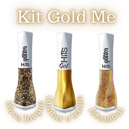 Kit Hits Esmaltes Gold Me - 3 esmaltes