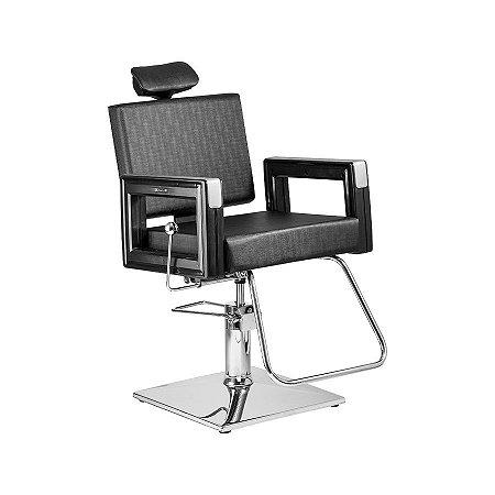 R$ 2150,00 - Cadeira reclinável Square ref3770 RPQ preto plus DOMPEL