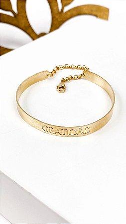 Bracelete Folheado 18k Gratidao