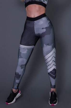 Calça Legging Fitness Geometric - Ref: D2607