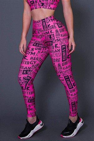 Calça Legging Fitness Pink Urban - Ref: D2622-B